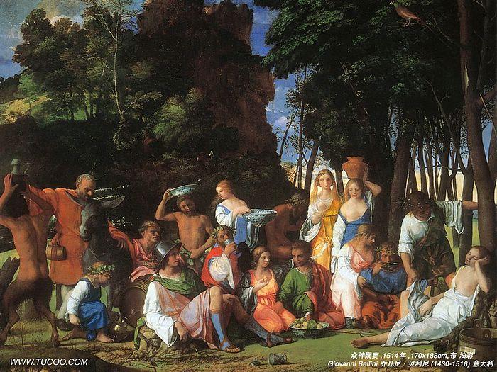 Italian Renaissance Painting Giovanni Bellini Paintings   The Feast 700x525