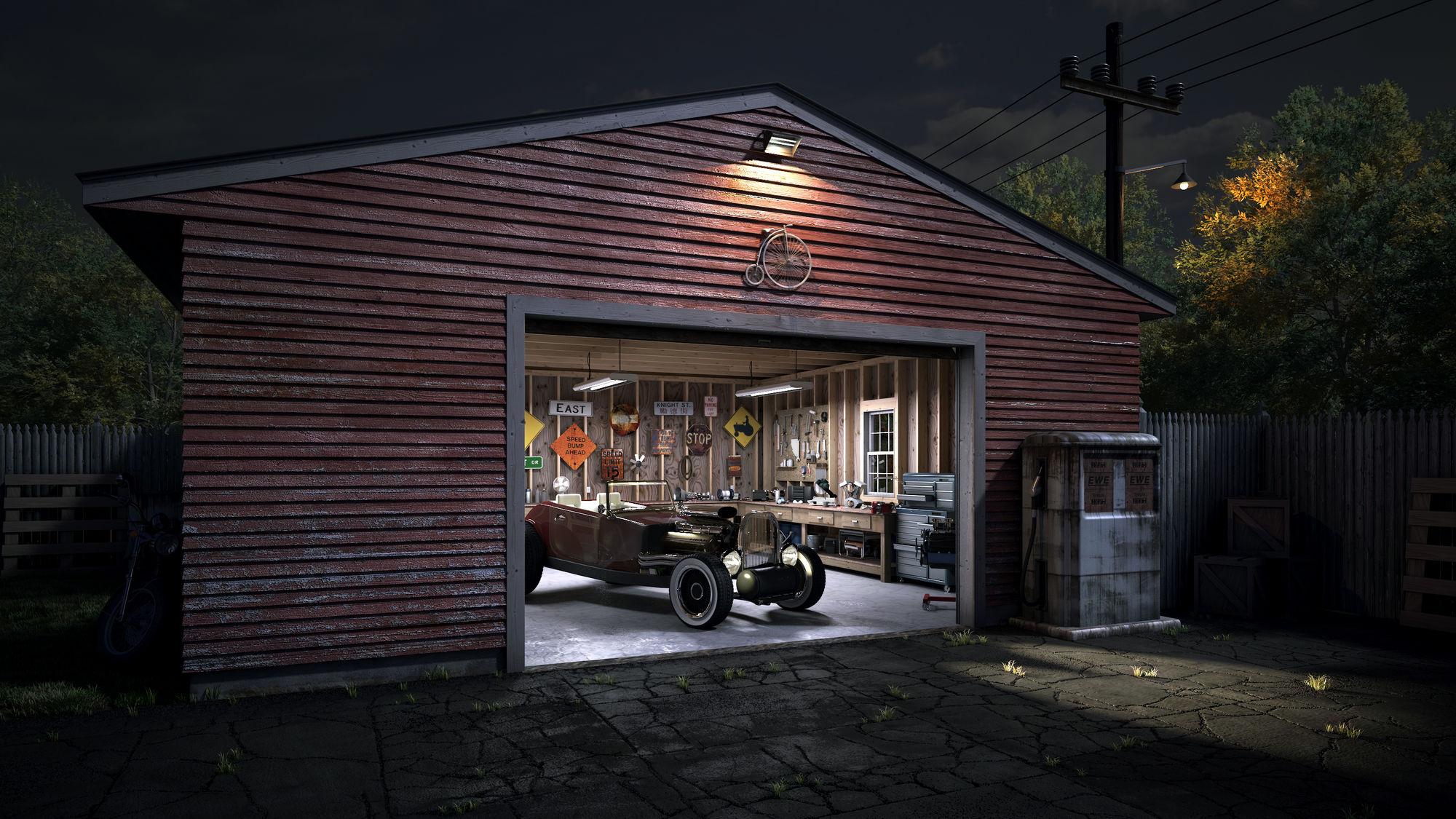 garage wallpaper wallpapersafari