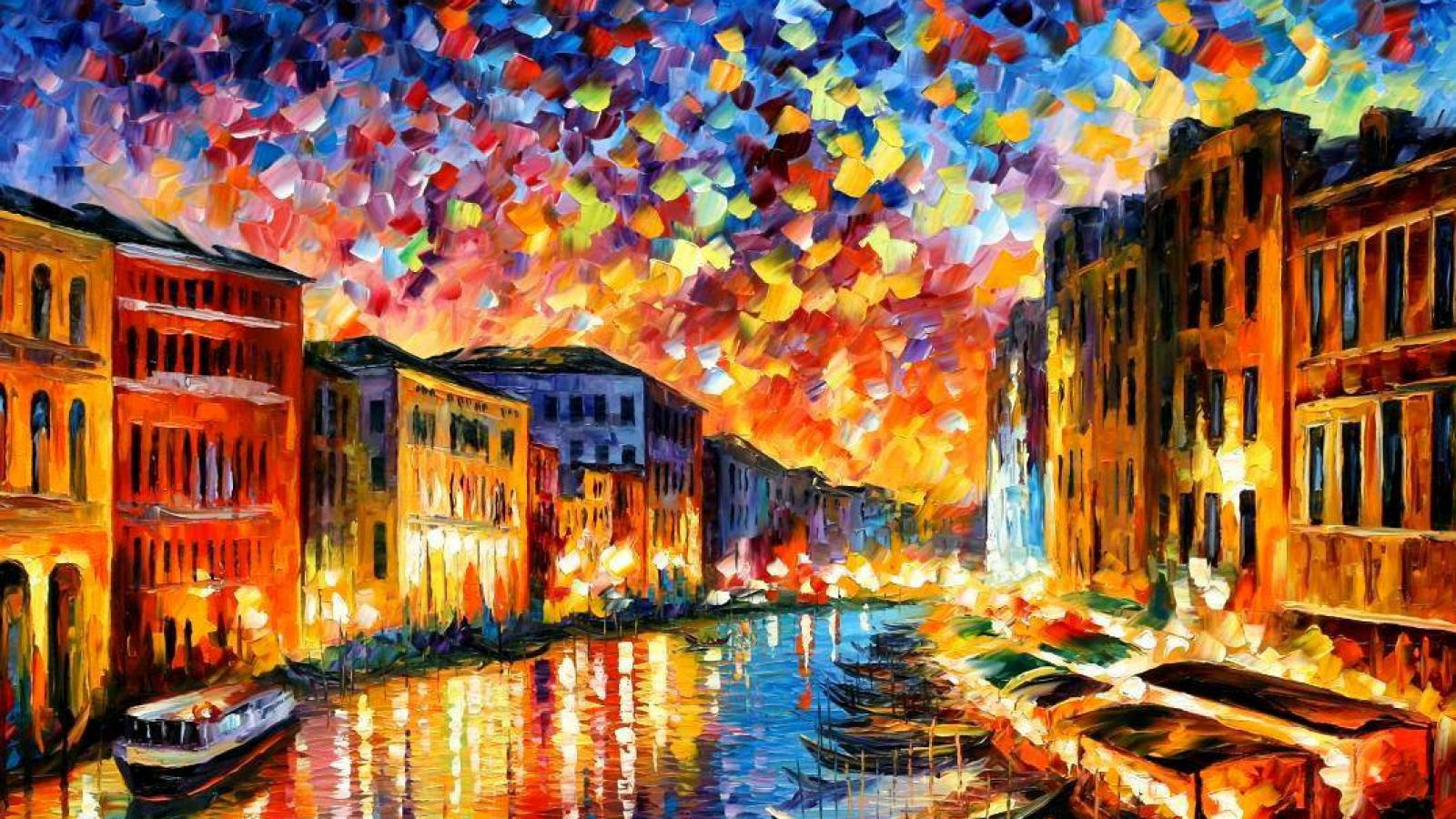 Paintings leonid afremov wallpaper HQ WALLPAPER   16912 1600x900
