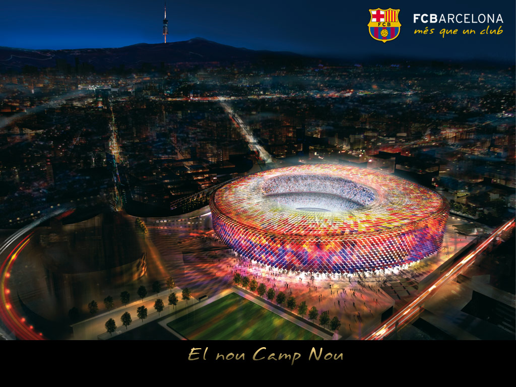 Camp Nou Barcelona Stadium For Desktop 1024x768
