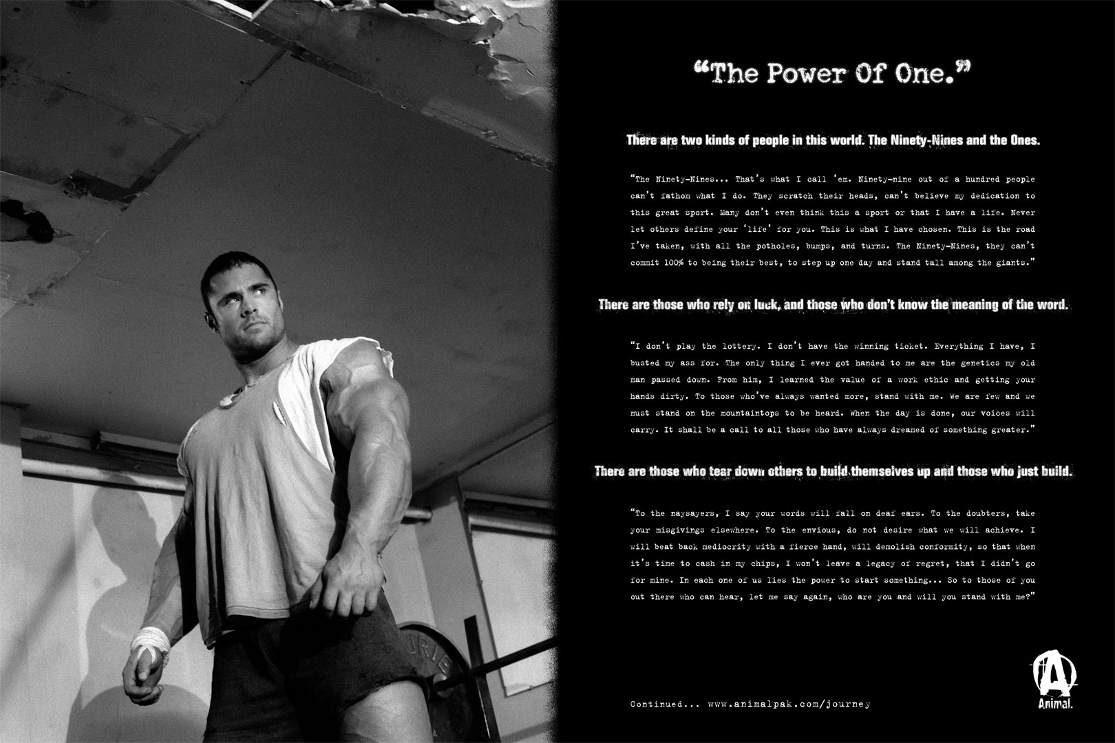 Animal Pak Quotes httpgympumpcom802the power of one animalpak 1620x1080
