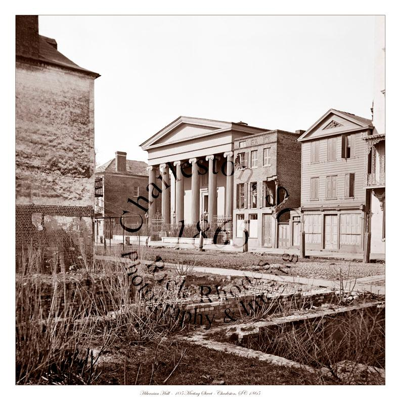 Civil War Photo Hibernian Hall Charleston South Carolina 1865 787x800