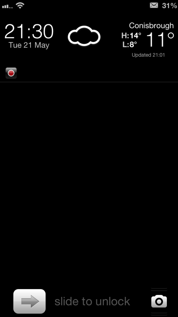 Lock Screen Wallpaper Iphone 5 Oliver black lock screen 576x1024