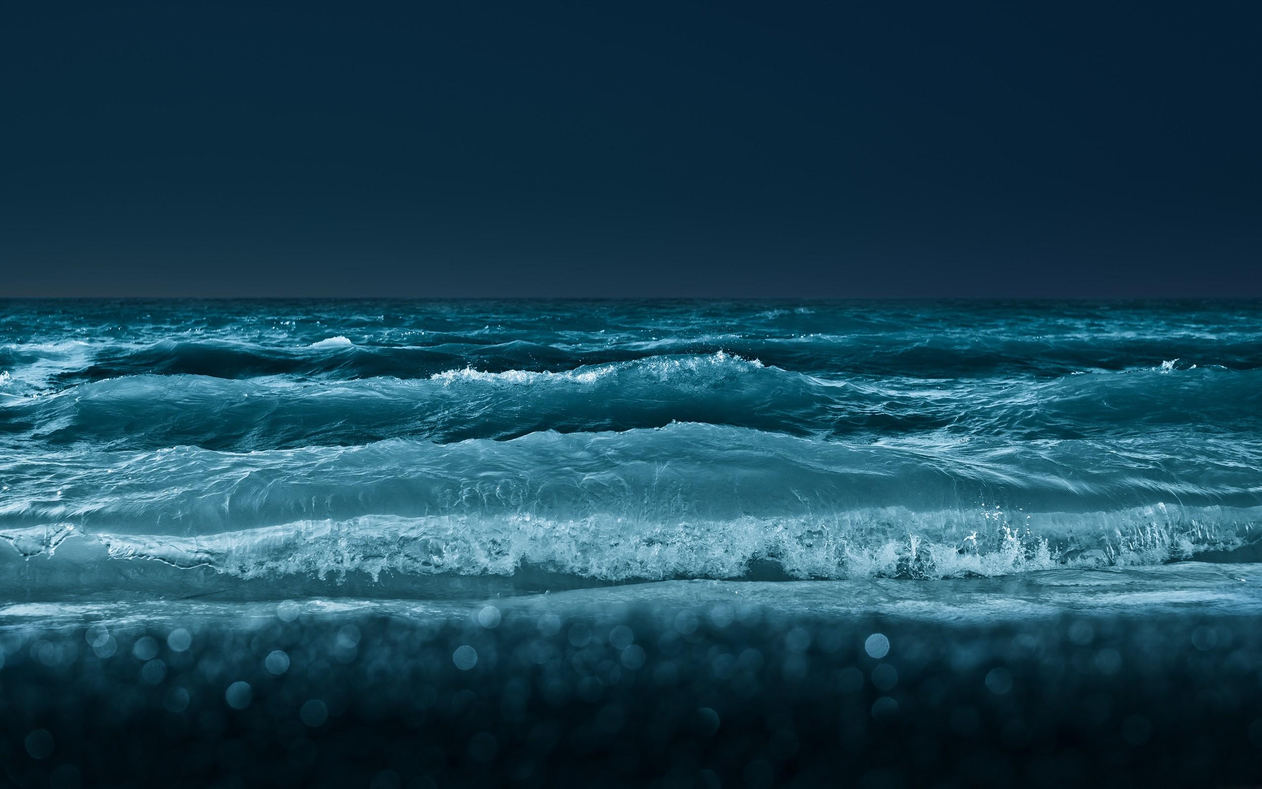Water Ocean Wallpaper 2560x1600 Water Ocean Nature Night Waves 2560x1600
