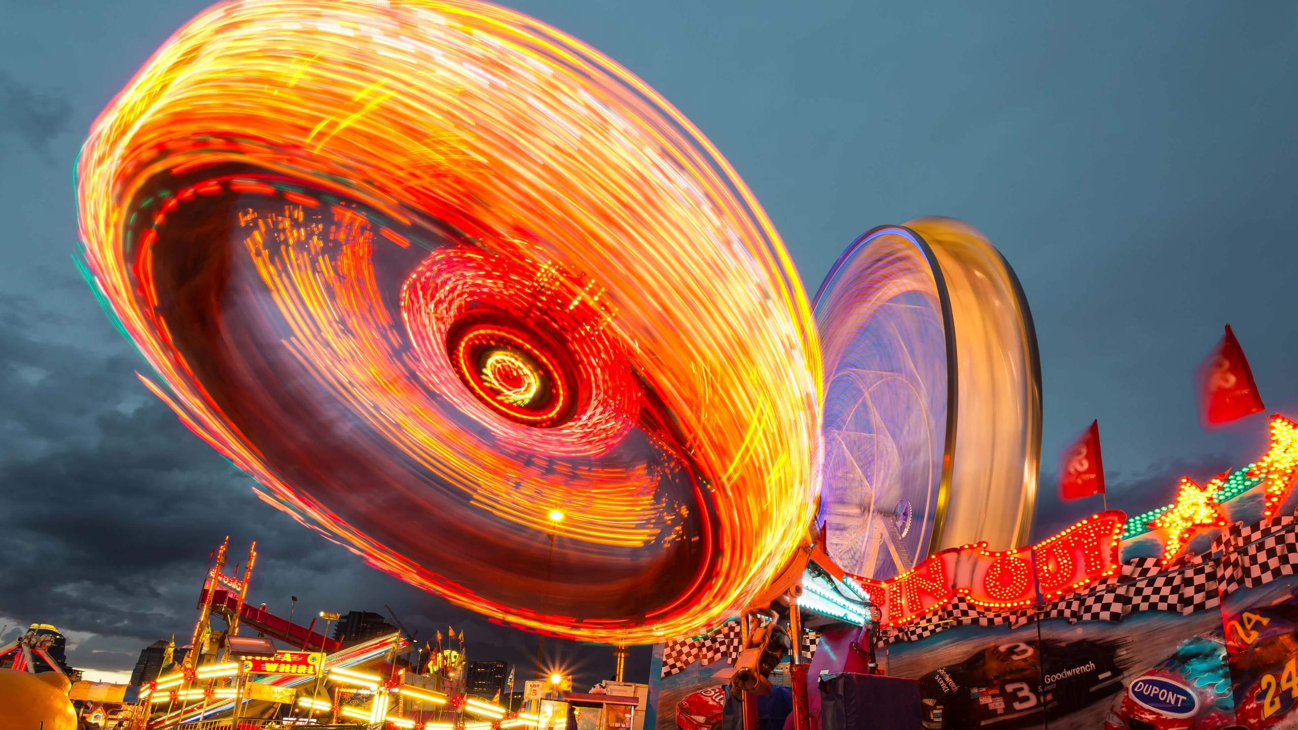Download Calgary Stampede Lights HD wallpaper for 2560 x 1440 2560x1440