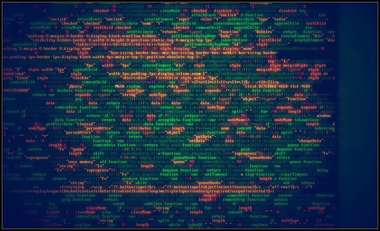 multicolor programming hacking program typography code 1358x826
