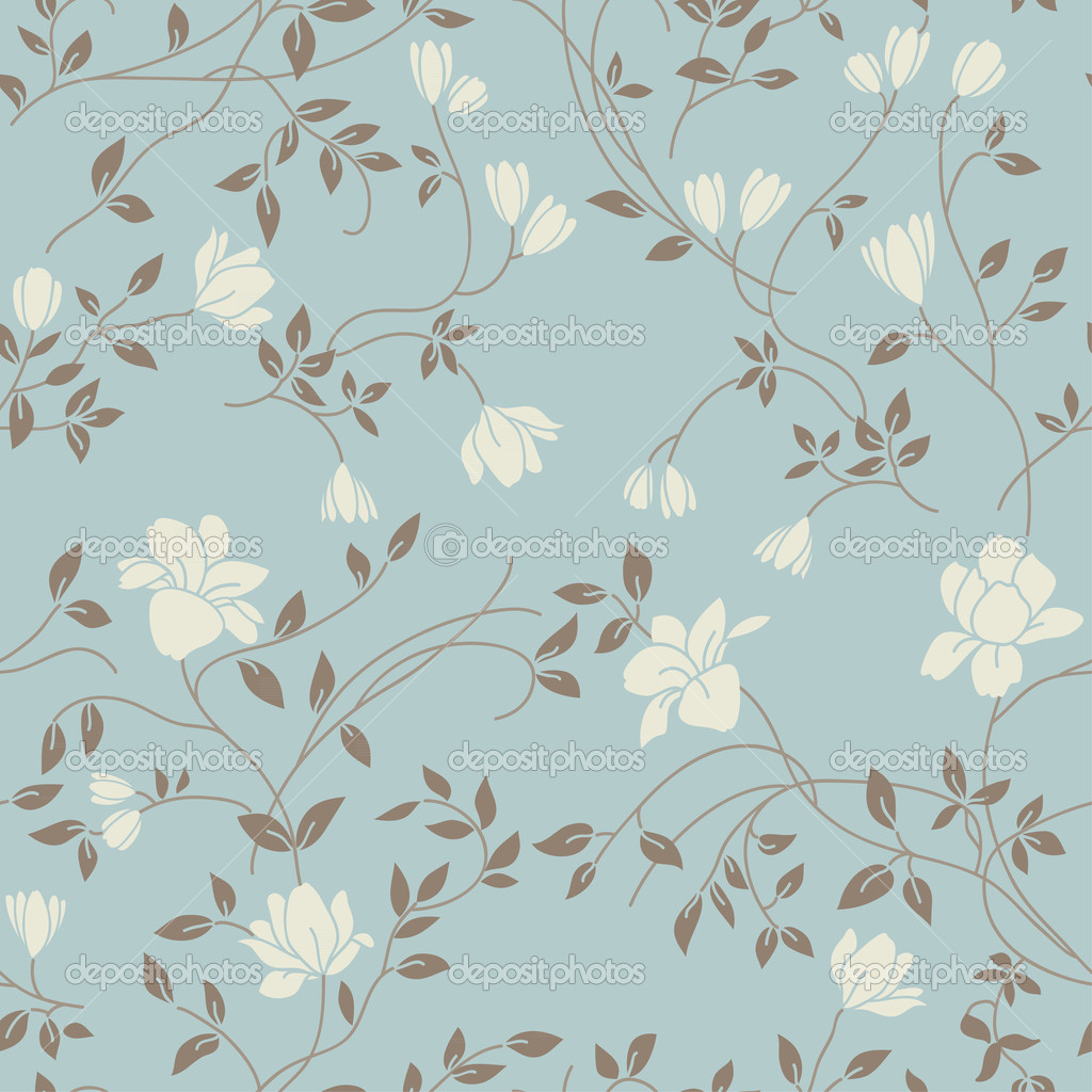 Vintage Flower Pattern Wallpaper Floral 1024x1024