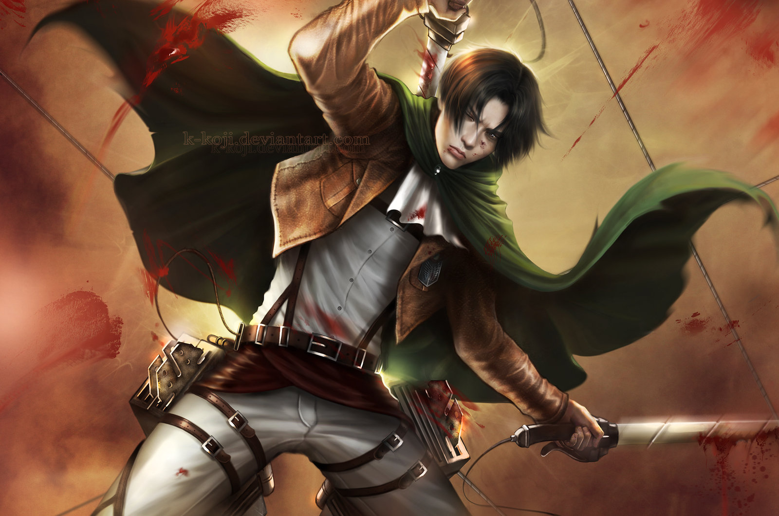 aot captain levi wallpaper by k koji customization wallpaper hdtv 1600x1060