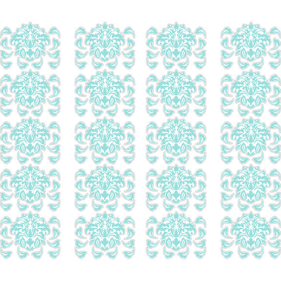 Blue Damask Peel and Stick Decals   Wall Sticker Outlet 576x576