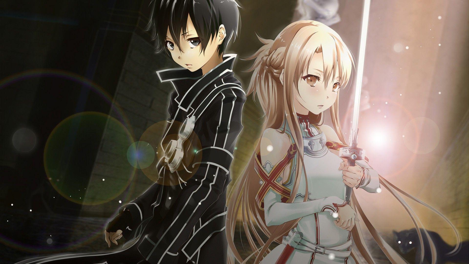 Asuna and Kirito Wallpaper - WallpaperSafari Sword Art Online Wallpaper 1920x1080 Yui