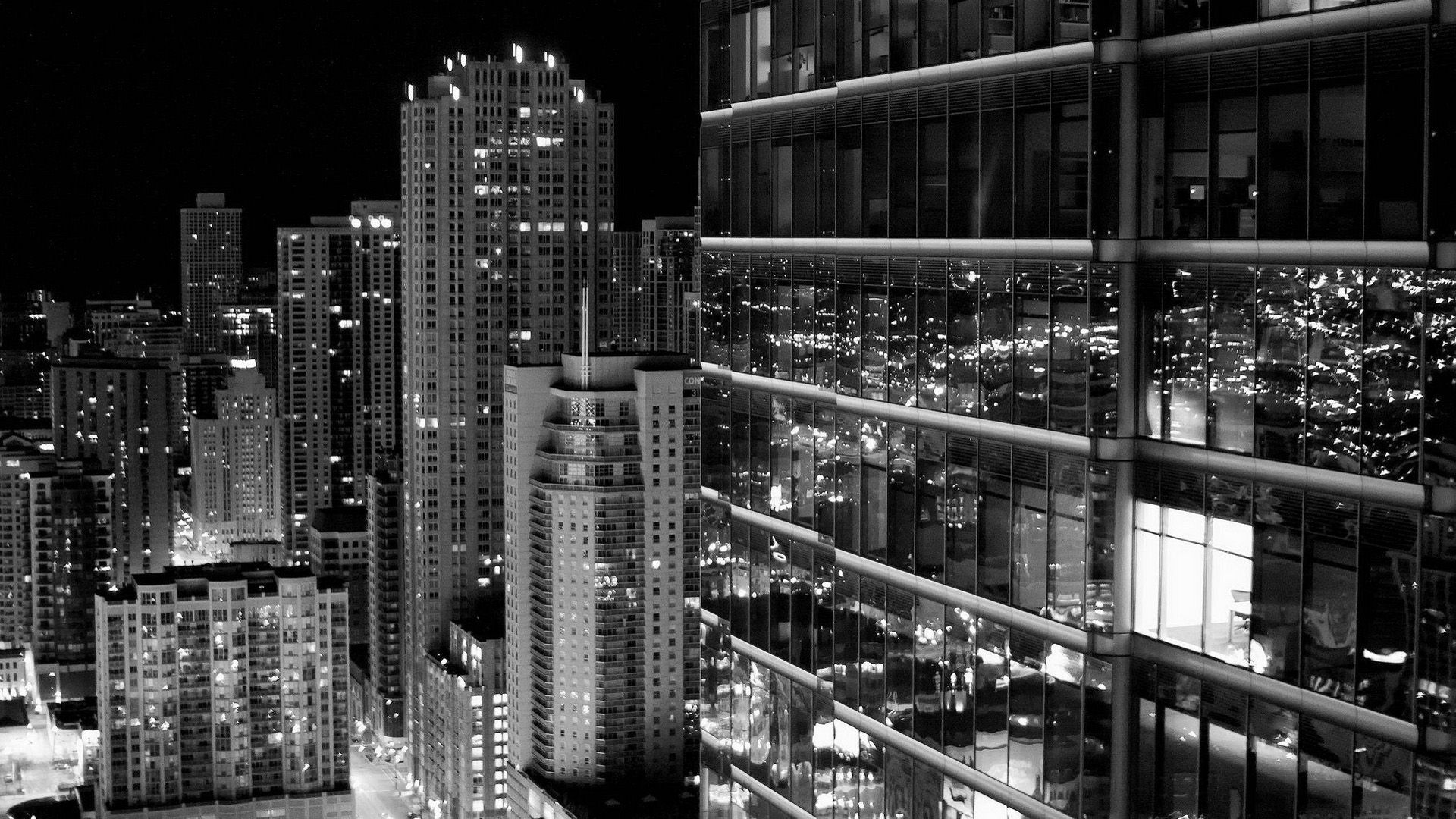 wallpaper hd 1080p black and white buildings hd Mayco Oil in 1920x1080