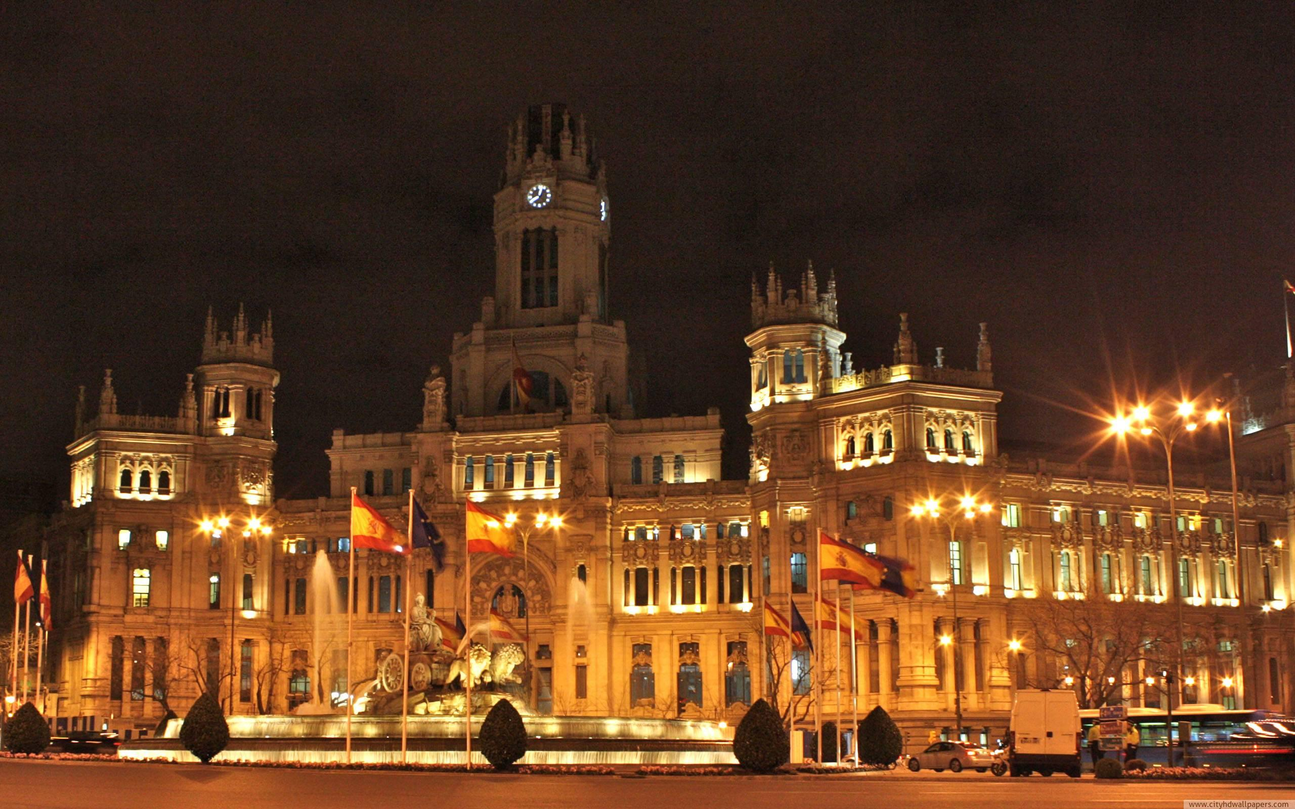 Night Madrid City Spain Wallpapers