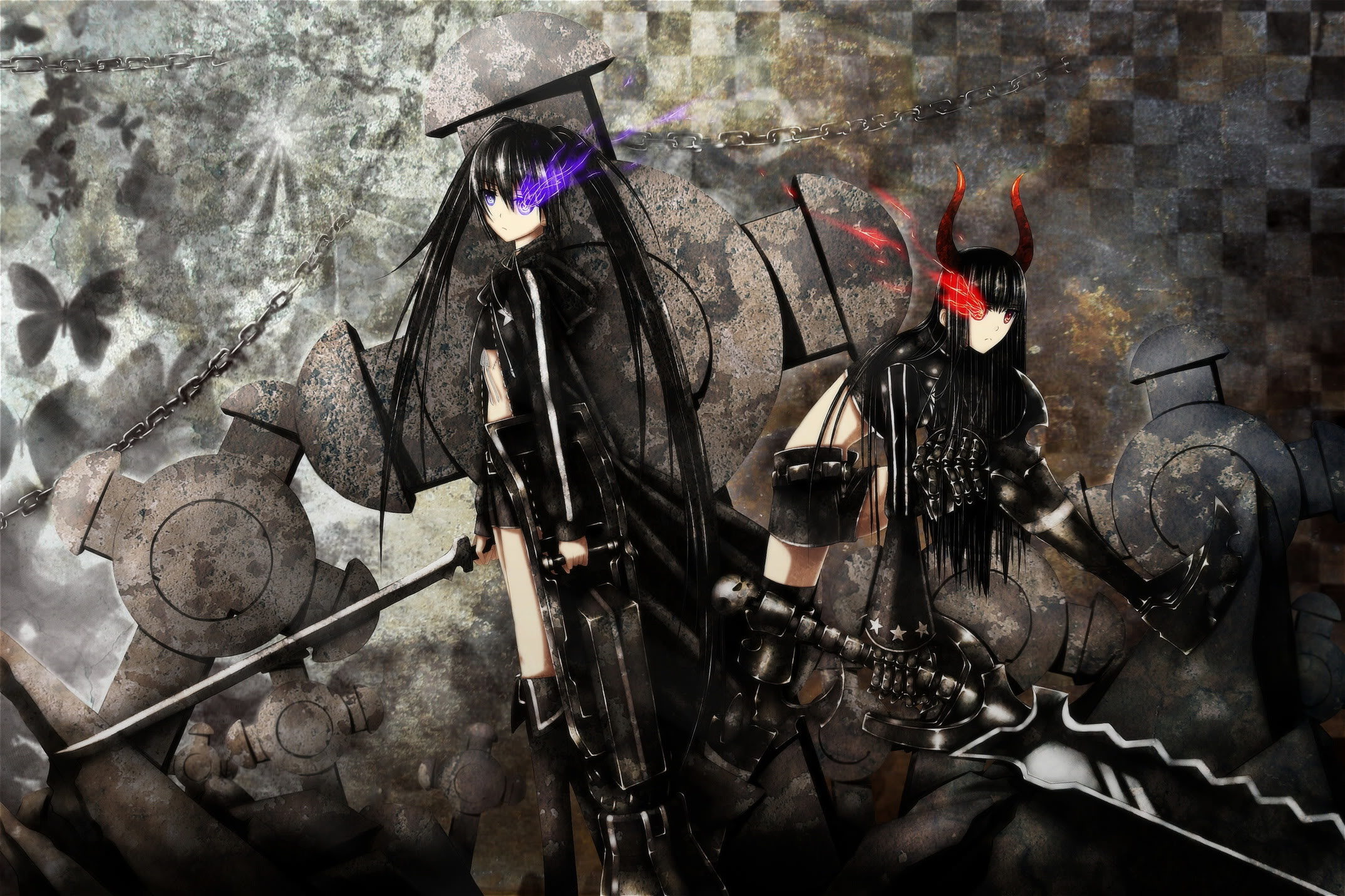 Anime Badass Girl Wallpaper Anime   black rock shooter 2148x1432