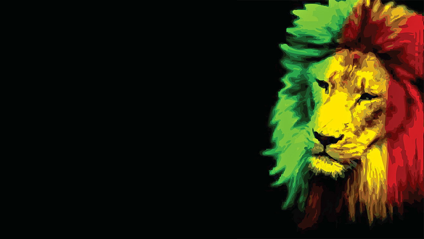 Rasta Lion Wallpapers For 1360x768
