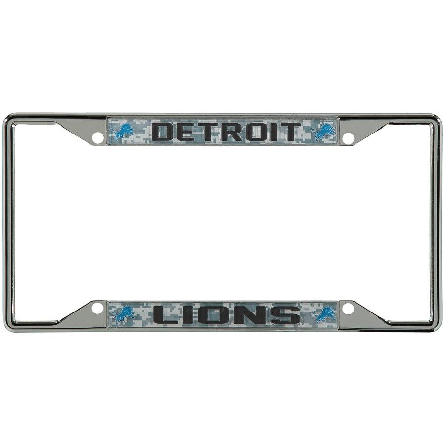 Detroit Lions Digi Camo License Plate Frame with Black Letters 900x900