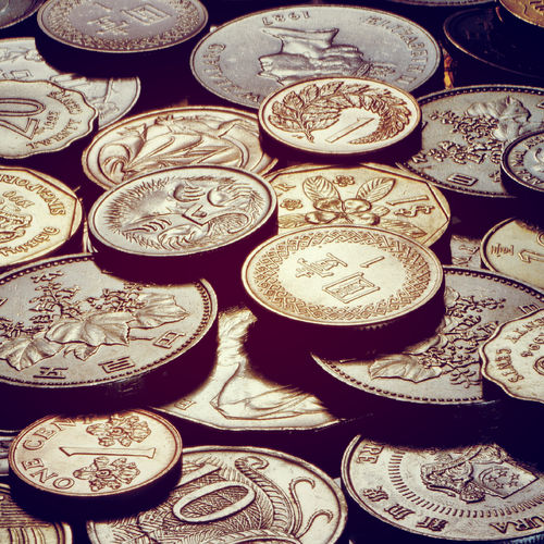 Download 1366x768 Coins From Around The World Wallpaper 500x500