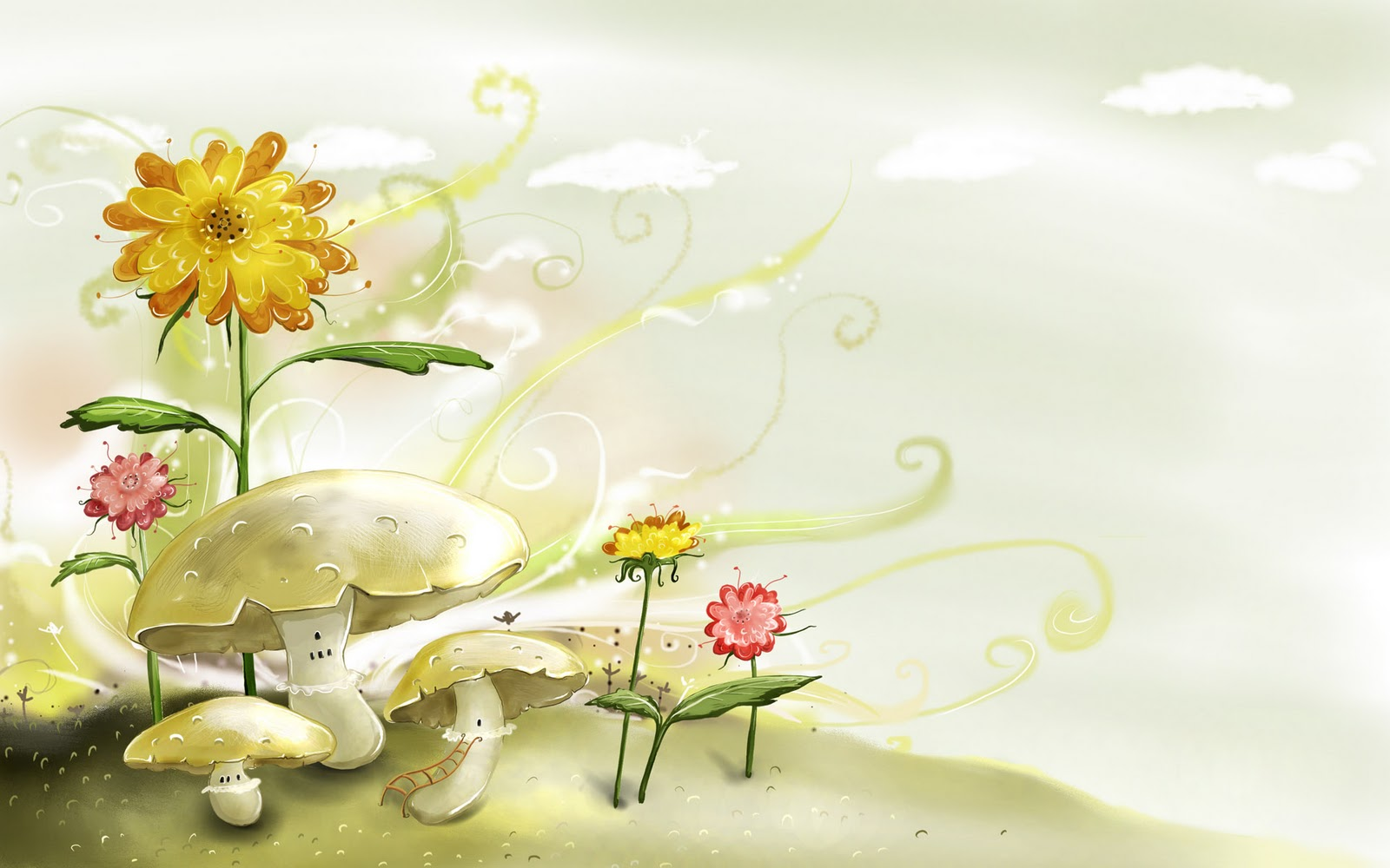 Spring Wallpaper wallpaper Cartoon Spring Wallpaper hd wallpaper 1600x1000