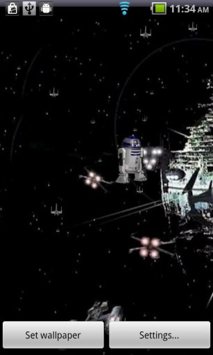 R2D2 Live Wallpaper Star Wars App for Android 307x512