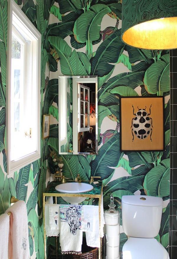 Martinique Banana Leaf Dorothy Drapers Brazilliance Wallpaper 600x878