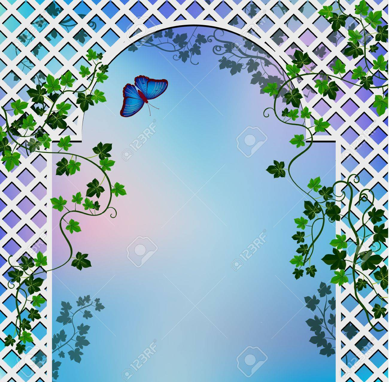 Background With Romantic Arbor Entwined With Ivy Royalty 1300x1276