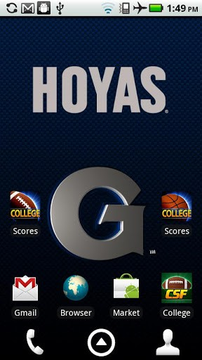 logo Background animation that fades from Georgetown logo to Hoyas 288x512