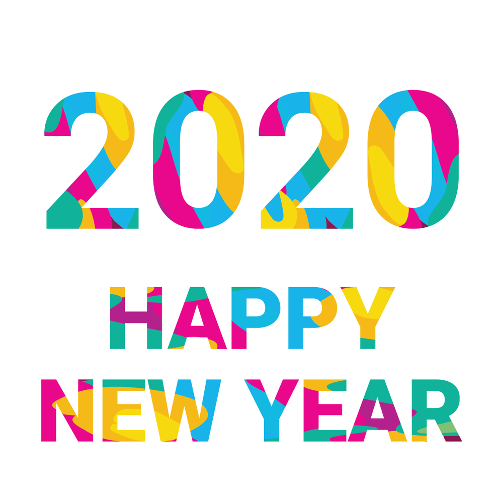 2020 Happy New Year Colorful Wallpaper Hd   Happy New Year 1000x1000