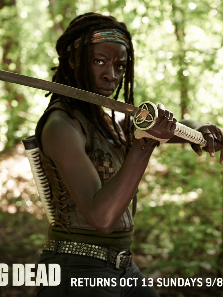 Free Download 768x1024 The Walking Dead Season 4 Michonne Ipad