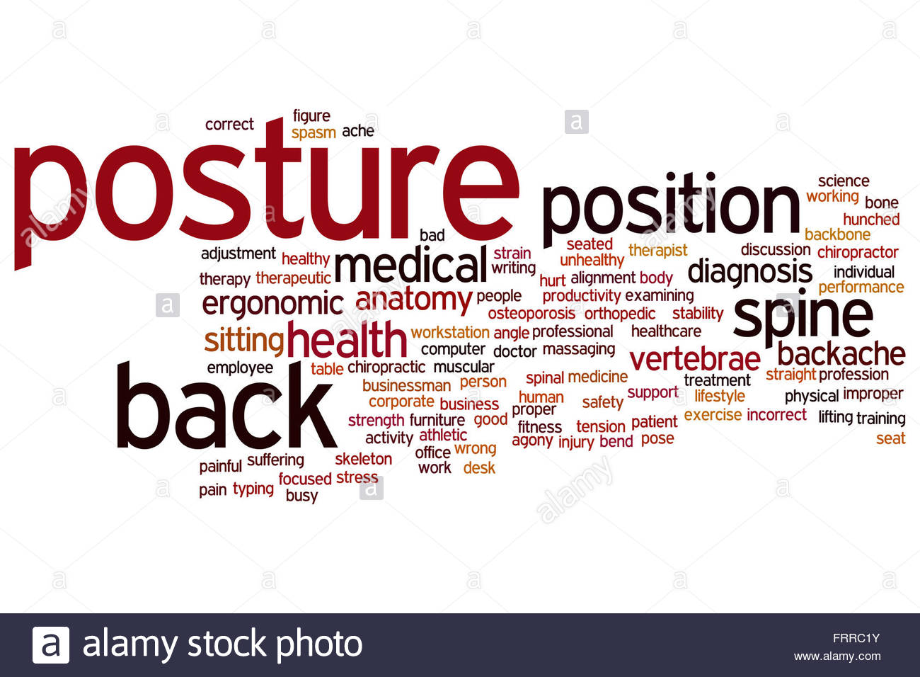 Posture concept word cloud background Stock Photo 100703287   Alamy 1300x956