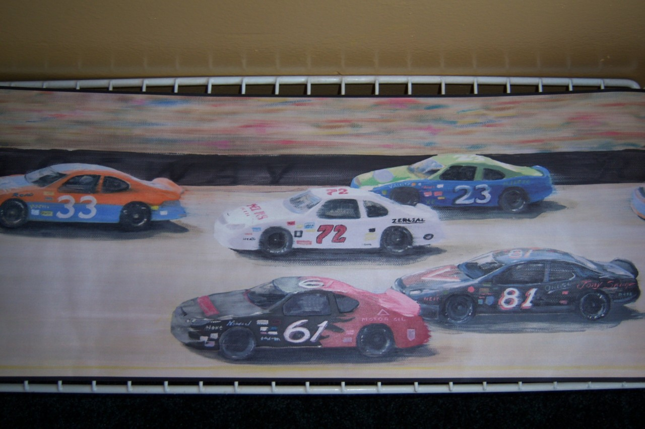 Details about NASCAR Wallpaper Wall Border Prepasted Decorative 1280x853