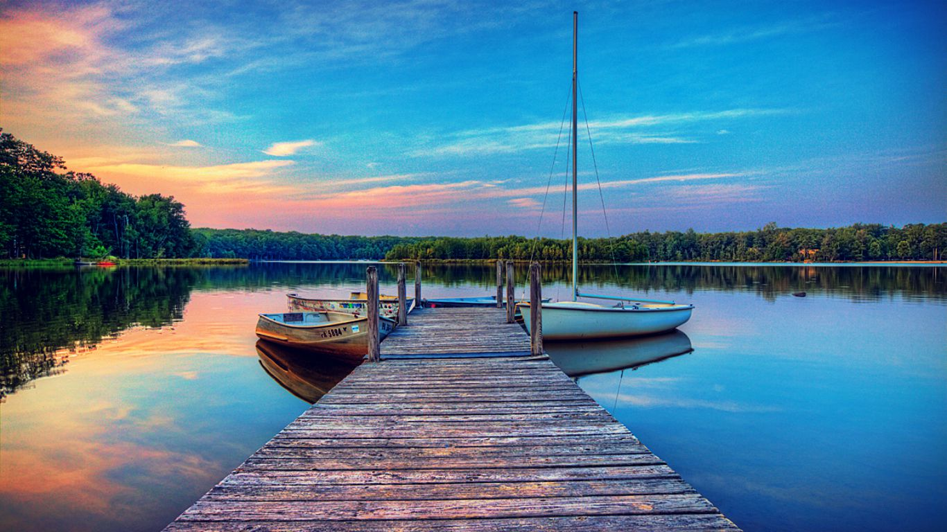 Boat Dock Wallpaper HD Wallpapers 1366x768