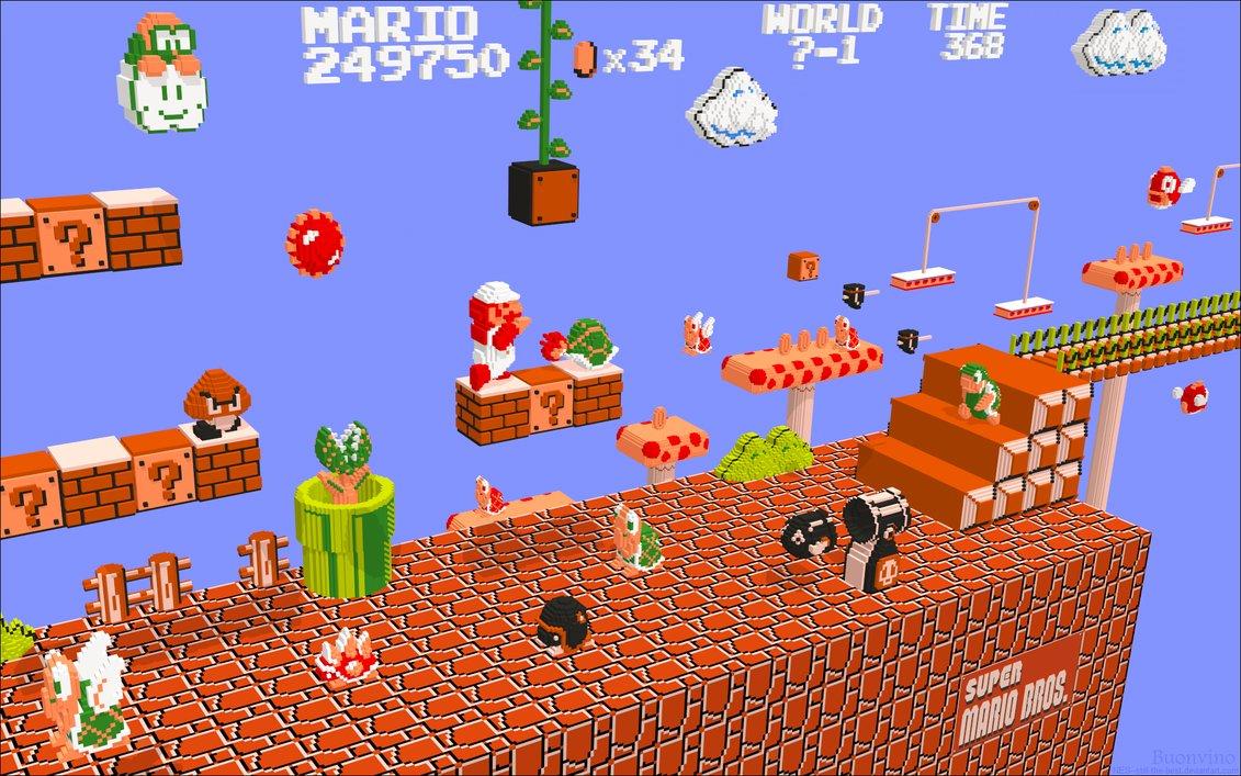 Bit City 3 D NES Wallpapers 1131x707