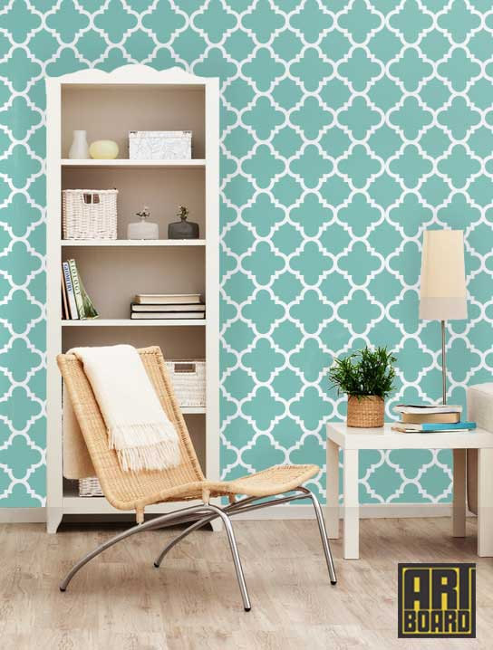 Quatrefoil   self adhesive DIY wallpaper home decor interior wall 544x718