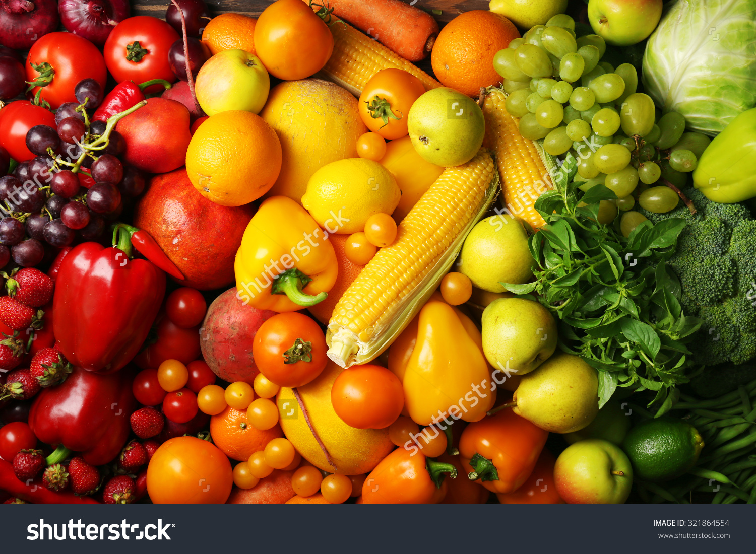 Colorful Fruits And Vegetables Background Stock Photo 321864554 1500x1100