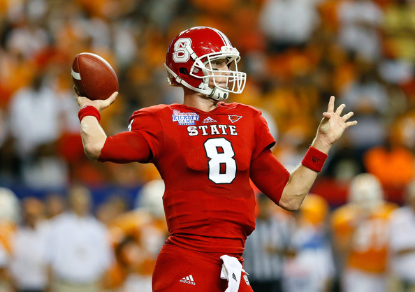 Mike Glennon North Carolina State Wolfpack Looks Pass 7 594x418