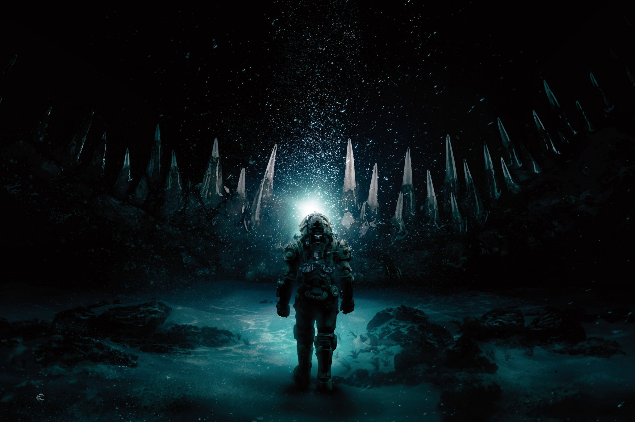 2560x1700 Underwater 2020 Movie Chromebook Pixel Wallpaper HD 2560x1700