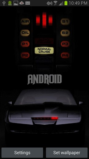 View bigger   Knight Rider Kitt L Wallpaper for Android screenshot 288x512
