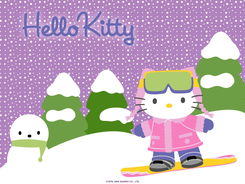 Mimmy and Hello Kitty Wallpaper Hello Kitty Ski 1024x768