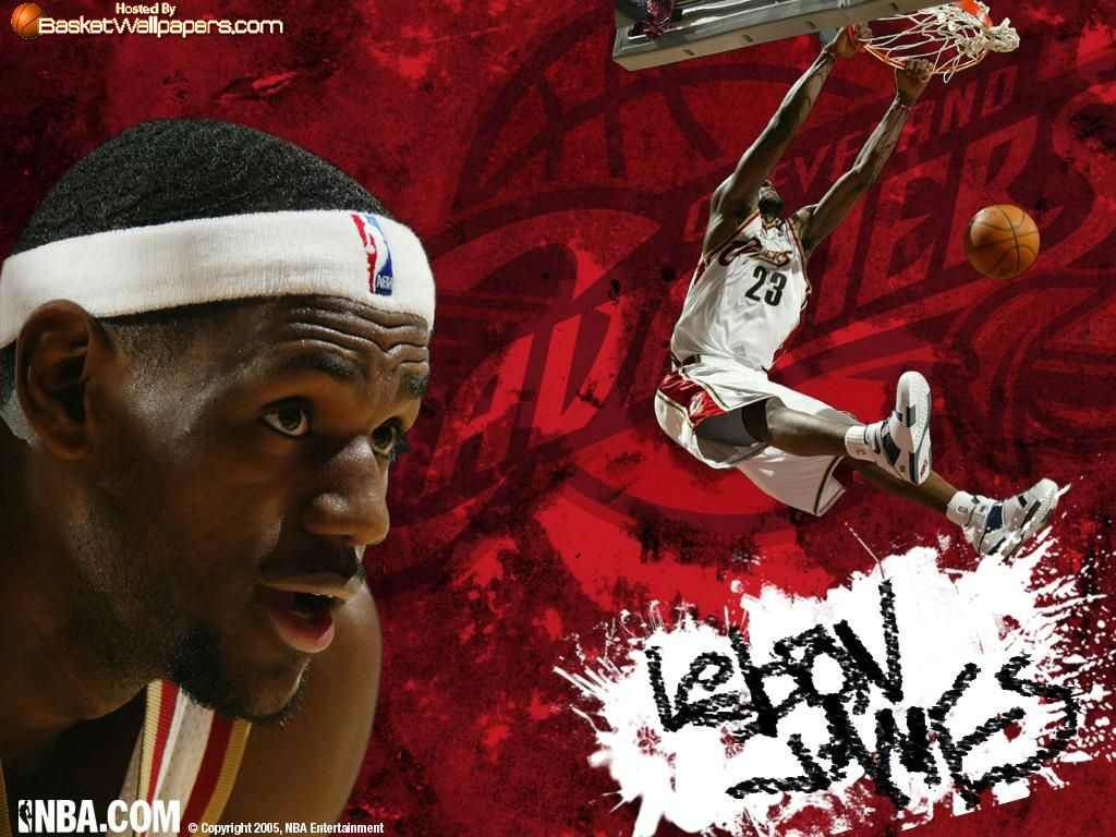 james wallpaper 7 cleveland cavaliers lebron james dunk wallpaper 1024x768