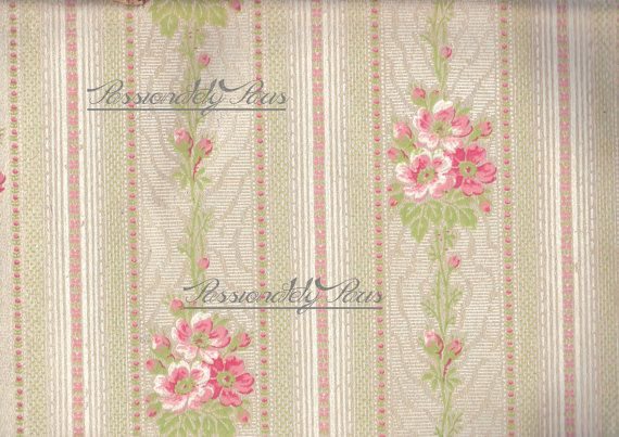 Antique French hand painted wall paper by passionatelyparis 025 570x403