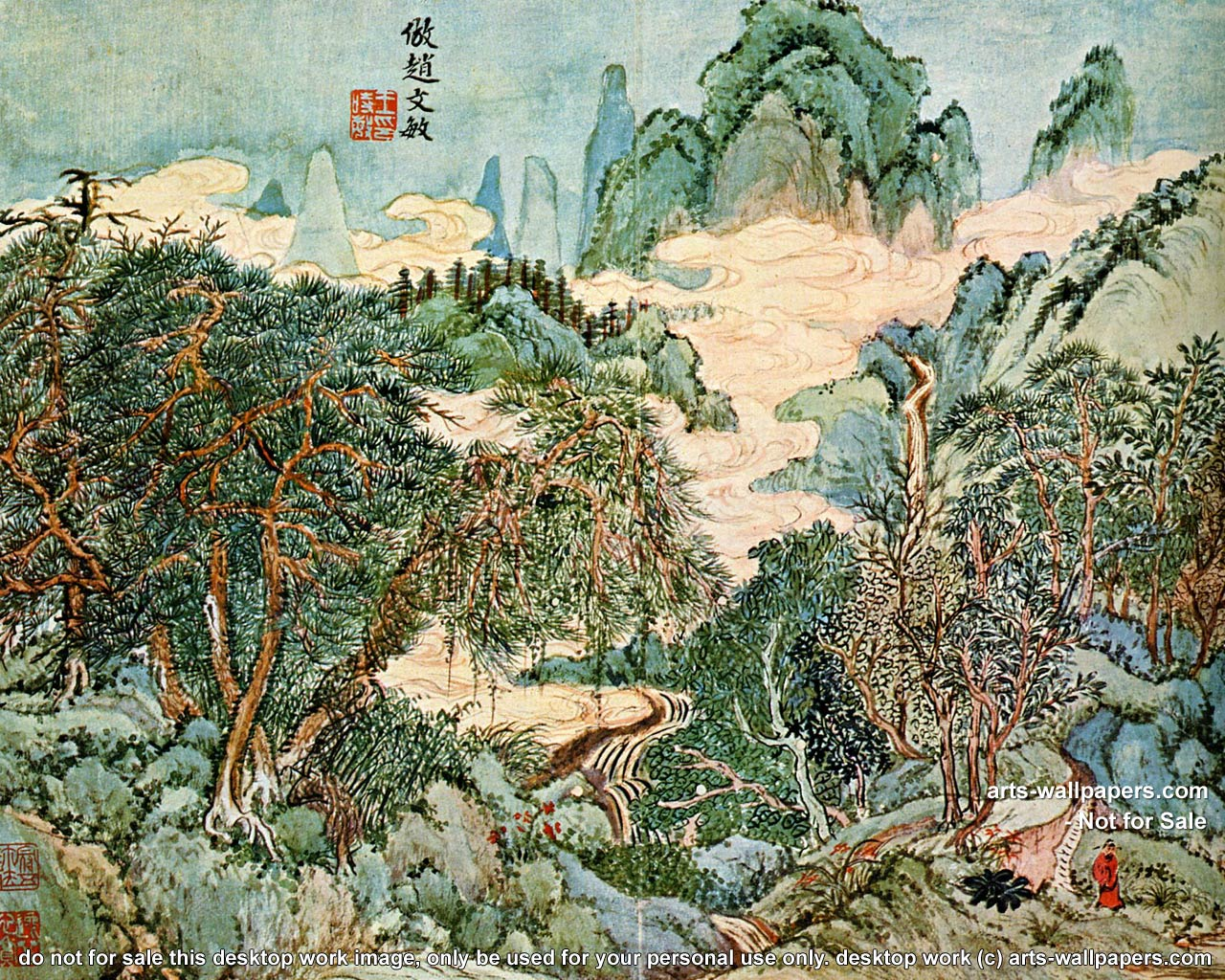 chinese art wallpapers all desktop works by arts wallpapers com 1280x1024
