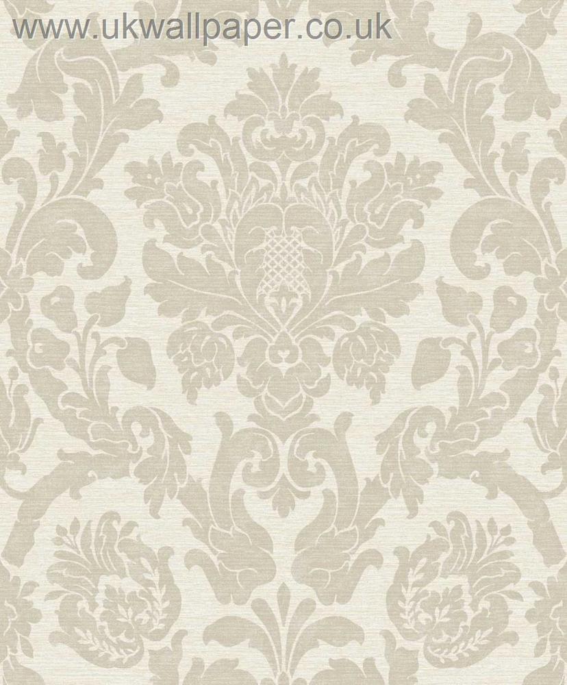 Kensington Damask Wallpaper Cream eBay 828x1000