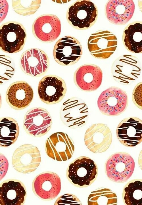 background backgrounds beautiful cute donuts   image 500x722