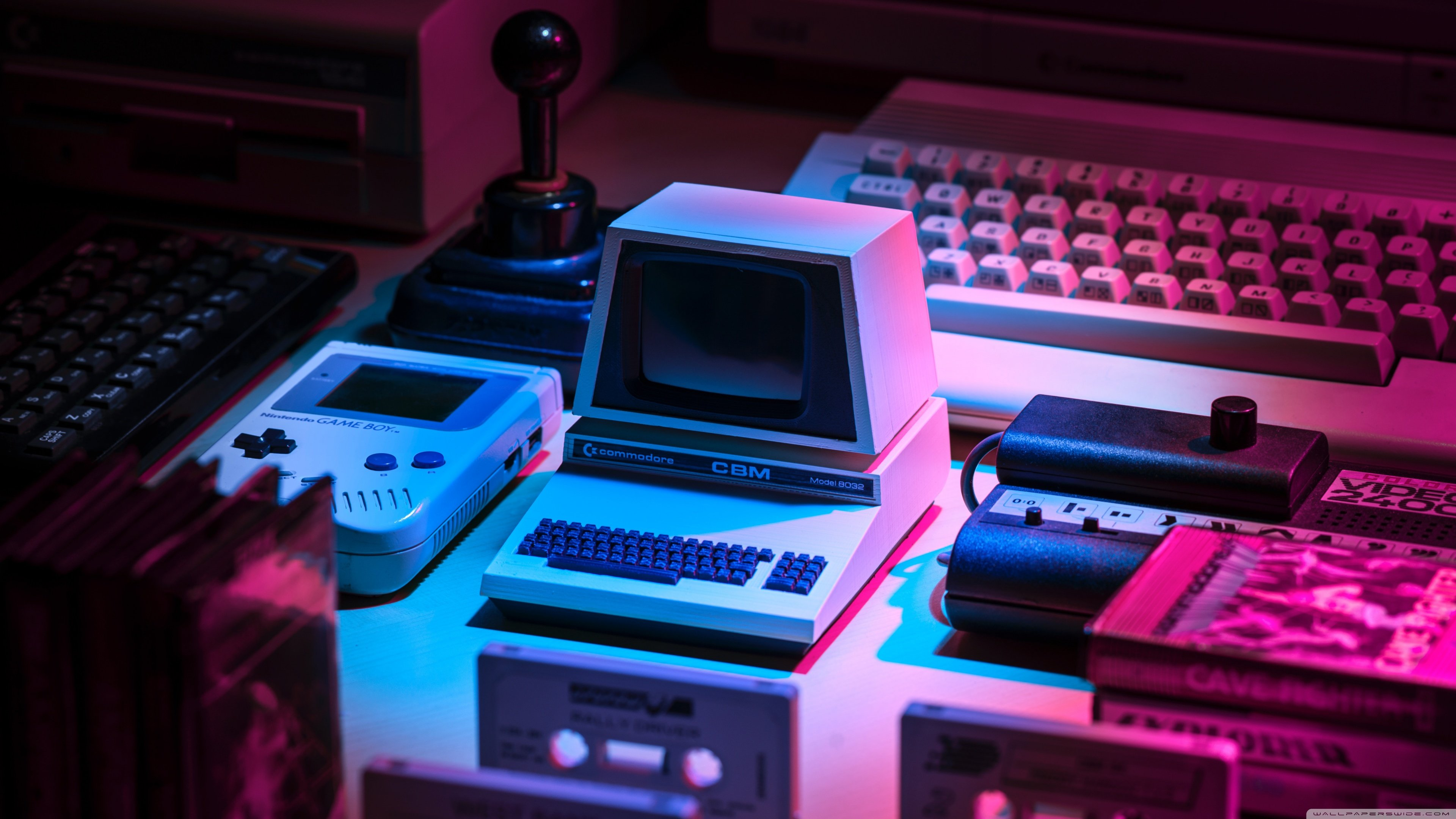 Retro Computer Aesthetic 4K HD Desktop Wallpaper for 4K Ultra 3840x2160