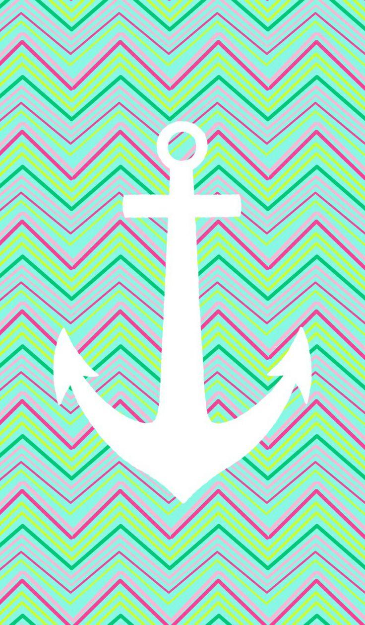 Anchor Chevron Wallpaper White anchorlime chevron pinned by kat 736x1258