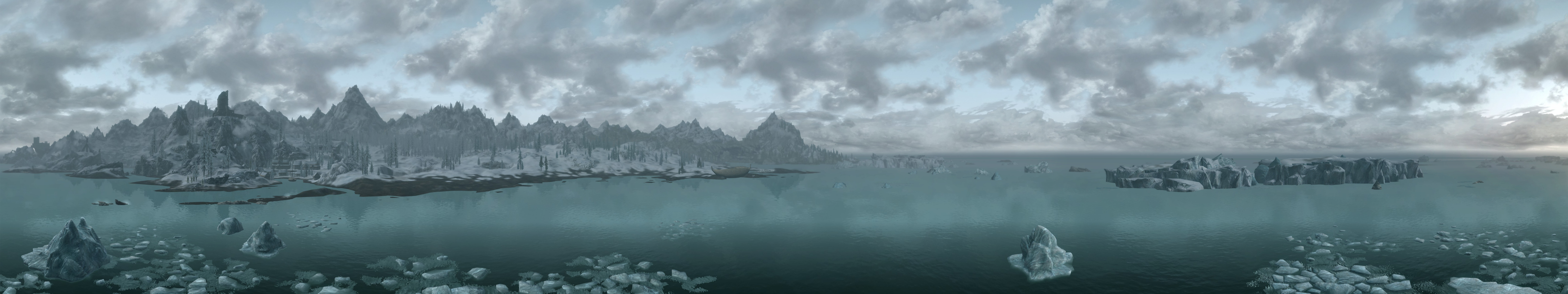 Skyrim Eyefinity Wallpapers Nerd Art Forum 5760x1080