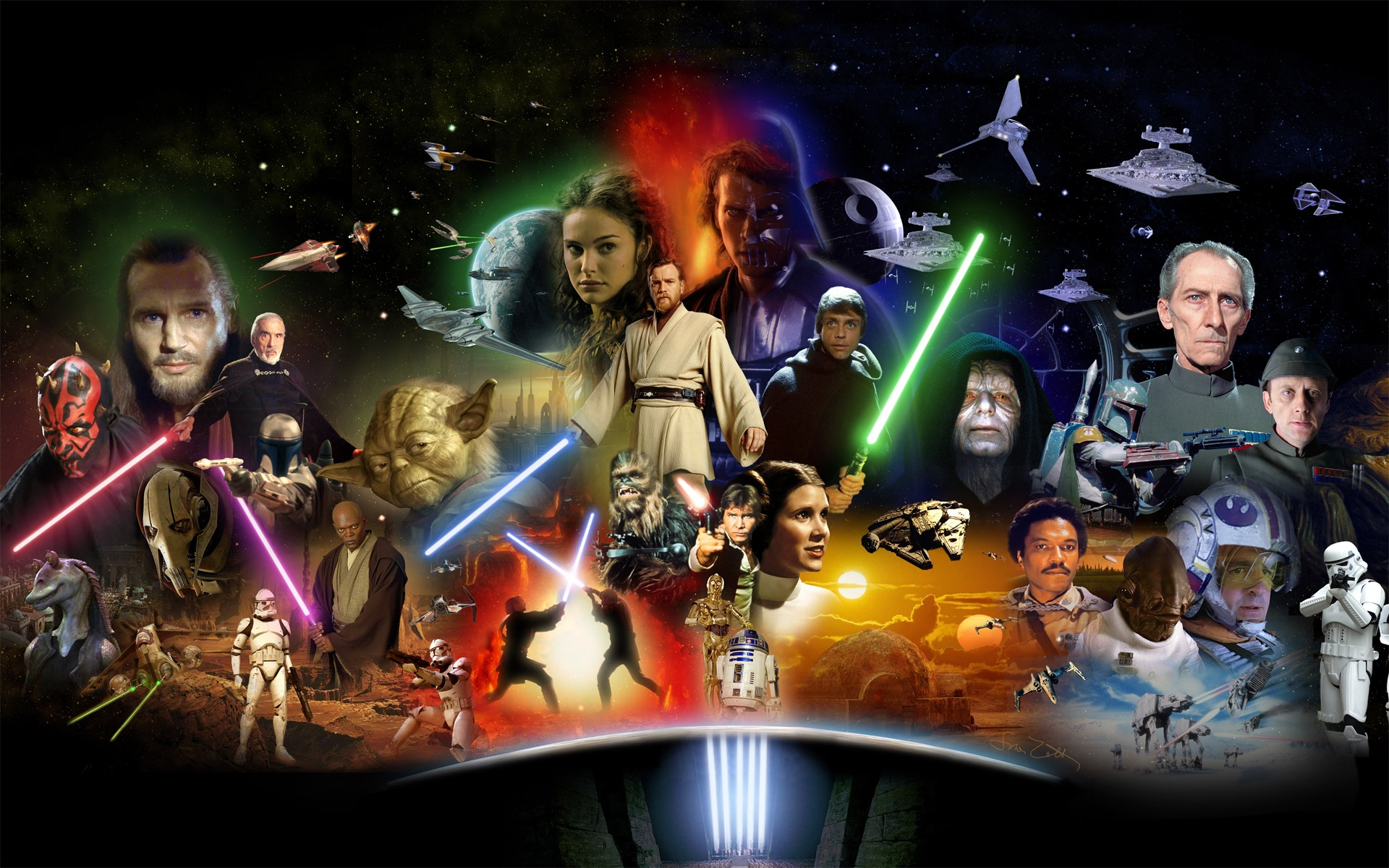 Star Wars desktop wallpaper 1920x1200