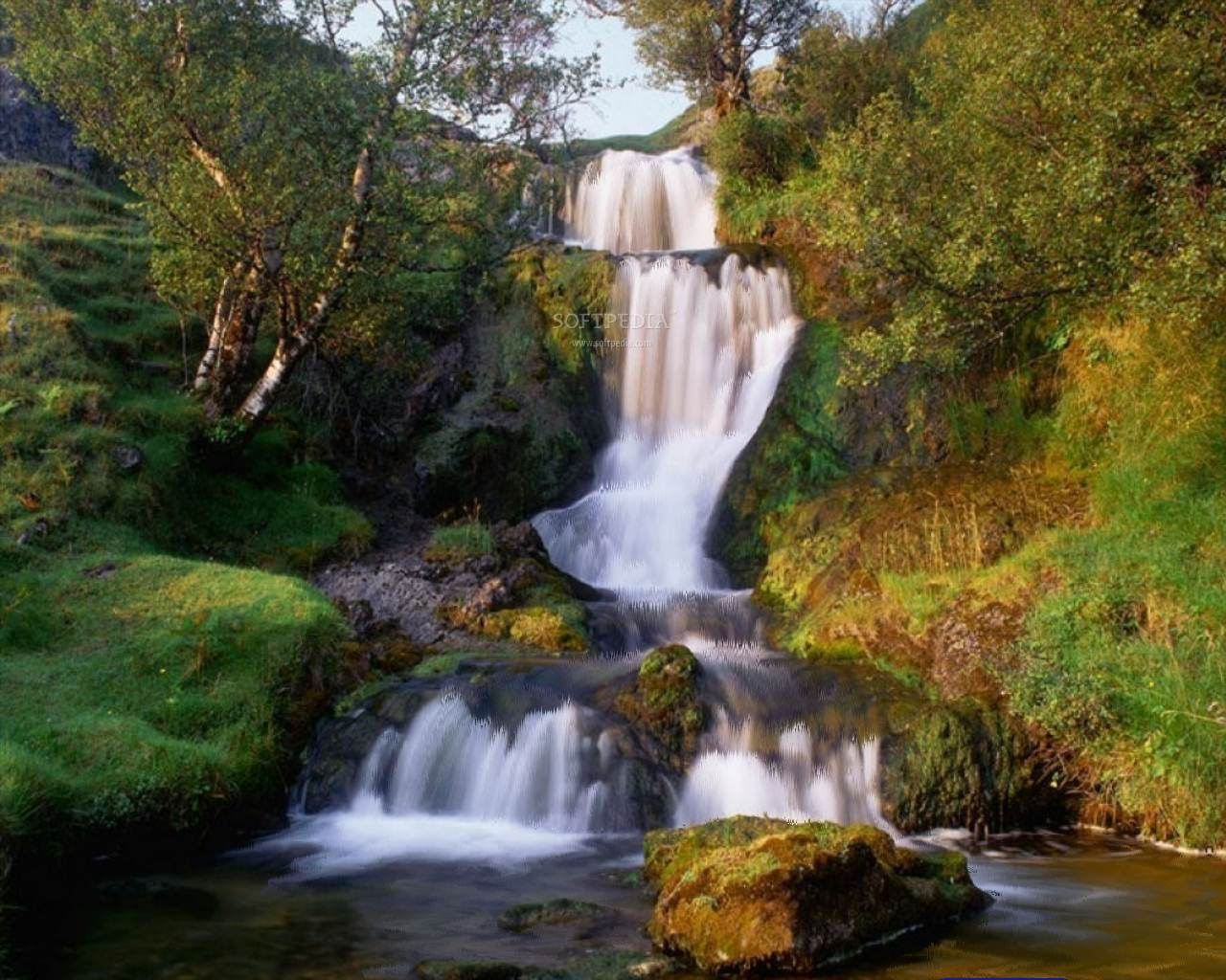 animated wallpaper waterfall screensaver 1280x1024
