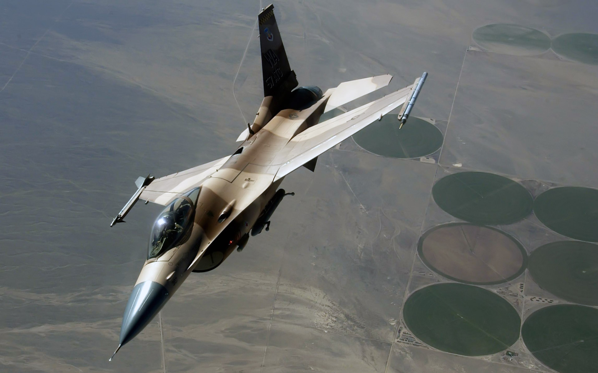 An F 16 Fighting Falcon During a Red Flag Exercise Wallpapers HD 1920x1200