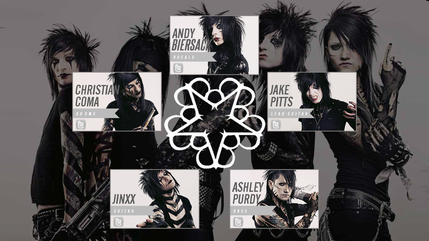Black Veil Brides Band Wallpaper by musicbboy909 1366x768