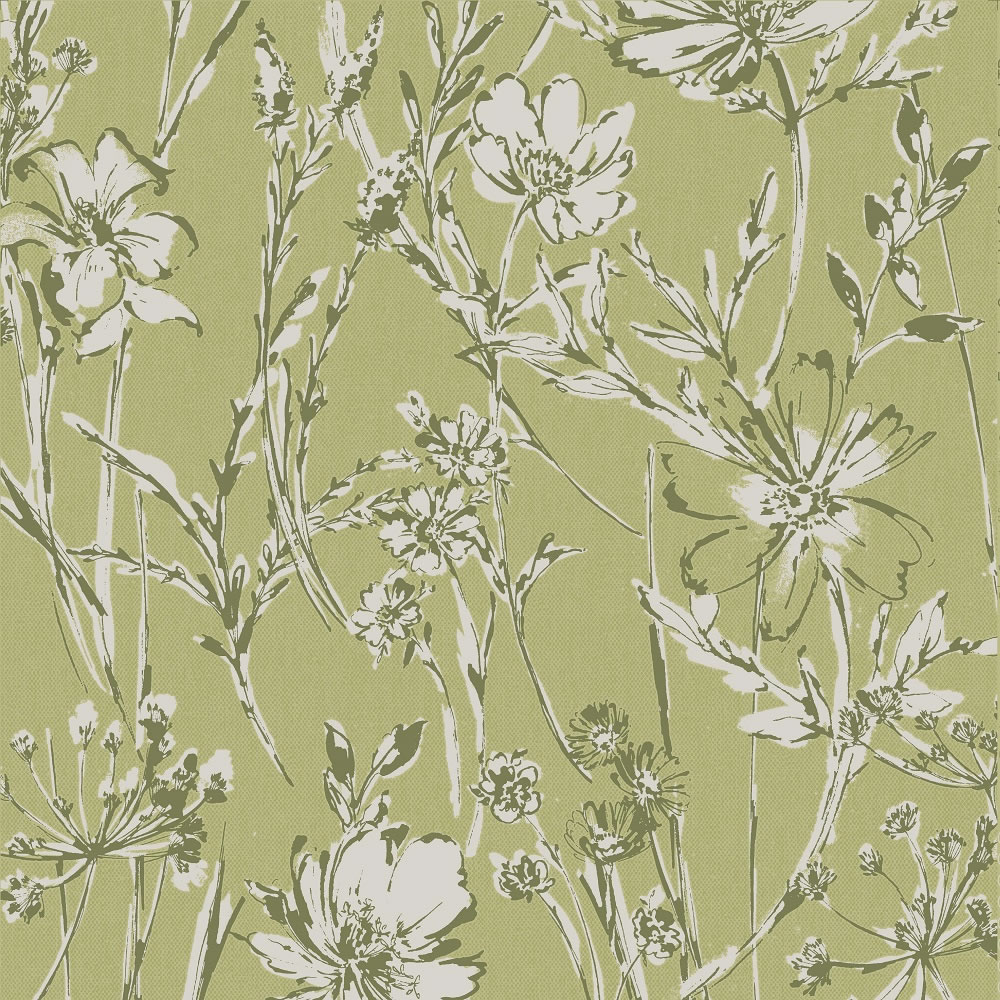 Wilko Green Botanical Shadow Wallpaper ...
